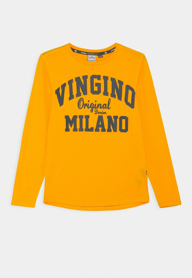 LOGO - Long sleeved top - gold yellow