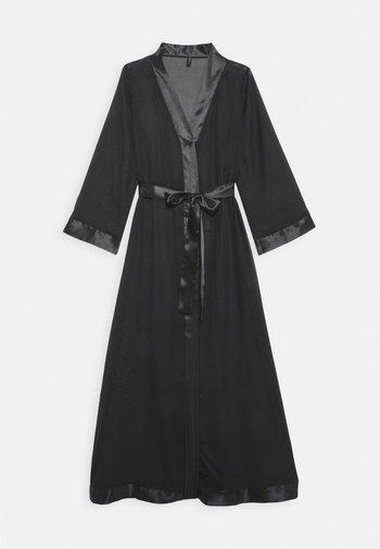 MARCELLA LONG KIMONO - Dressing gown - black