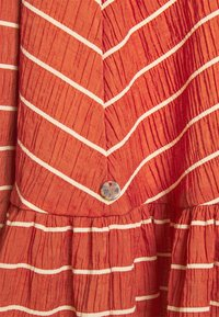 Scotch & Soda - WRAPOVER MIX DRESS IN SEERSUCKER STRIPE - Day dress - rust - 2