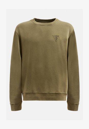 PATCH LOGO - Sweatshirt - grün