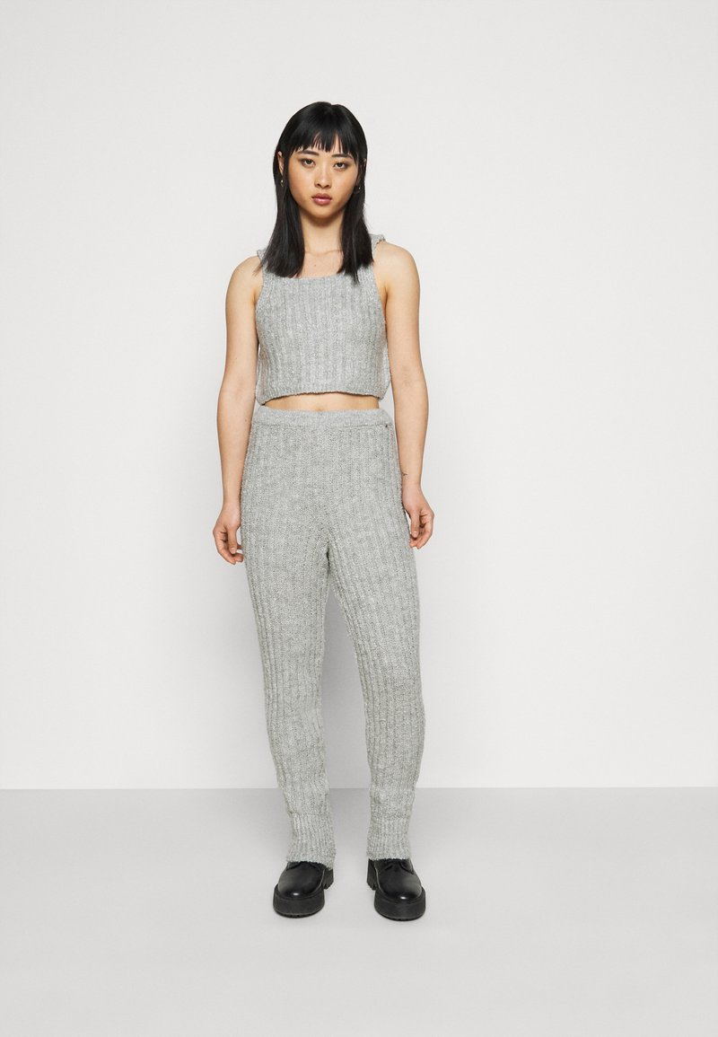 Miss Selfridge Petite - COZY SET - Top - grey
