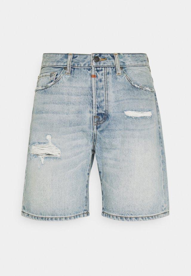 LEY - Shorts di jeans - light blue