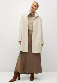 Violeta by Mango - BUCLE - Classic coat - écru - 1