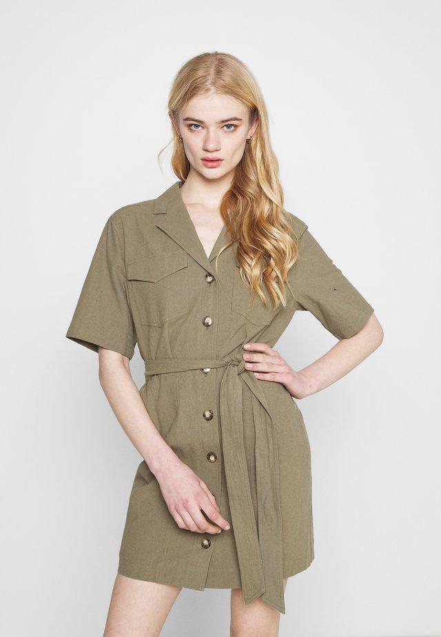 HEAVEN DRESS - Shirt dress - oliv