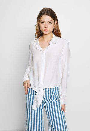 SEMISE MIX - Button-down blouse - chalk