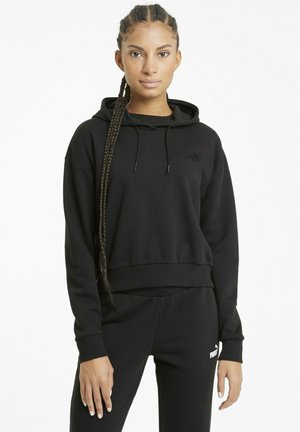 ESSENTIALS EMBROIDERED CROPPED  - Hoodie - puma black