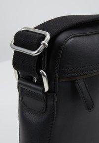 Pier One - LEATHER - Across body bag - black - 6