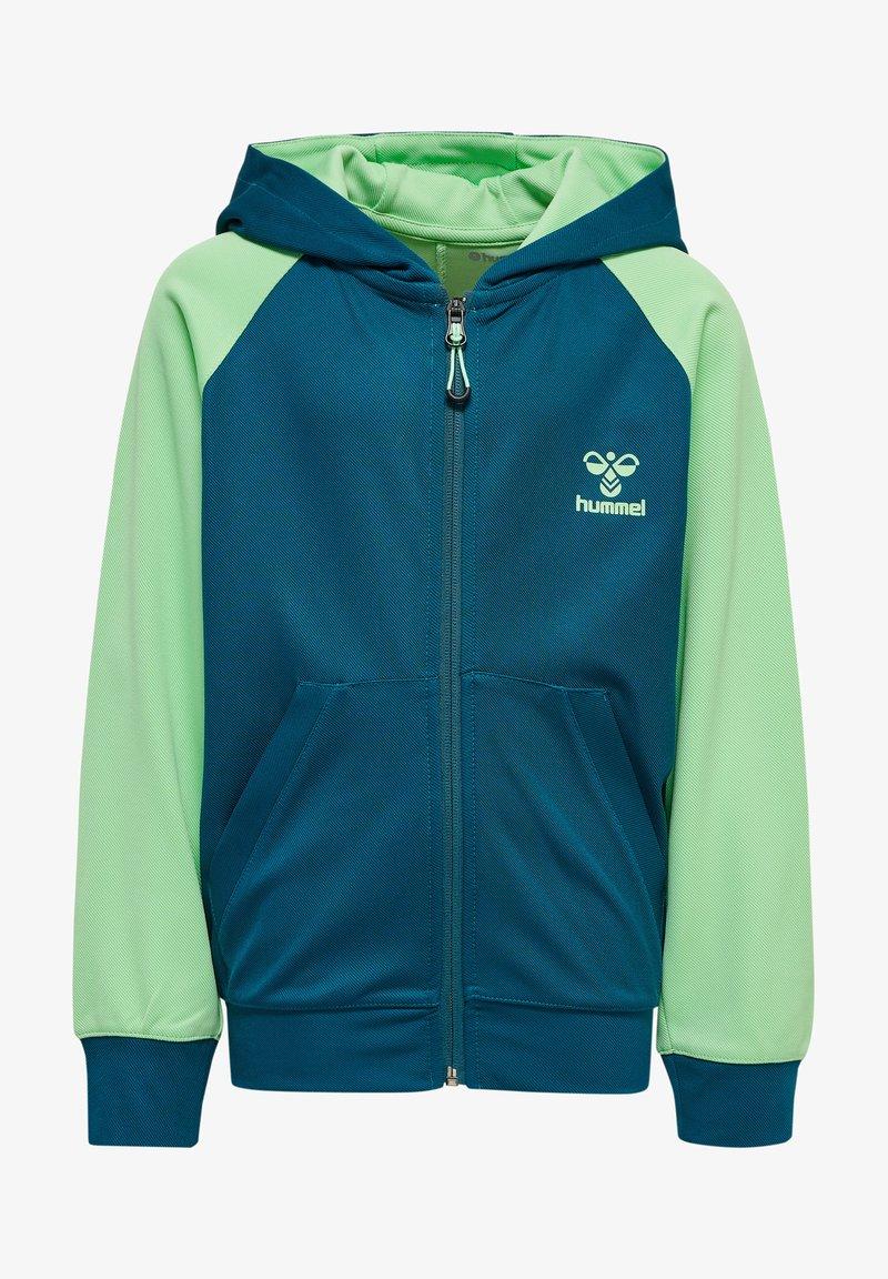 Hummel - ACTION - Zip-up hoodie - blue coral green ash
