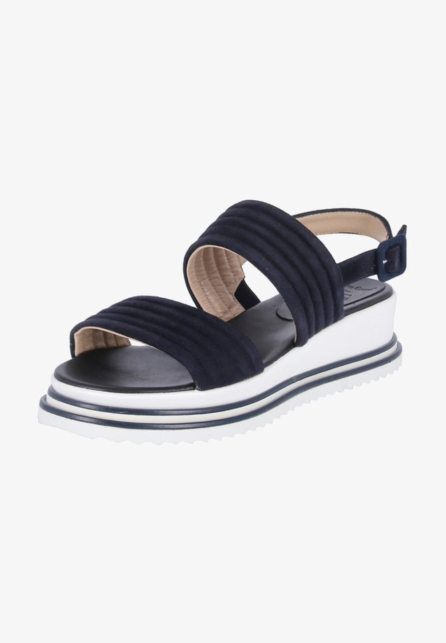 Platform sandals - dunkel blau