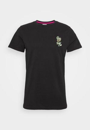 UNISEX CONNER TEE - T-shirt z nadrukiem - black