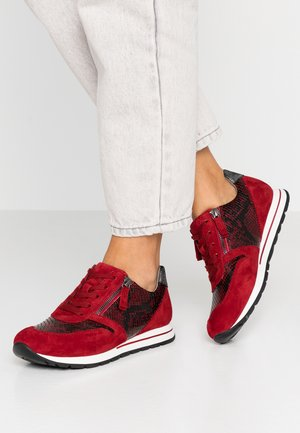 WIDE FIT - Trainers - dark red/schwarz