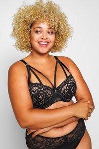 City Chic - ANDREA BRA - Underwired bra - black - 4