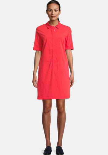 Shirt dress - poppy red