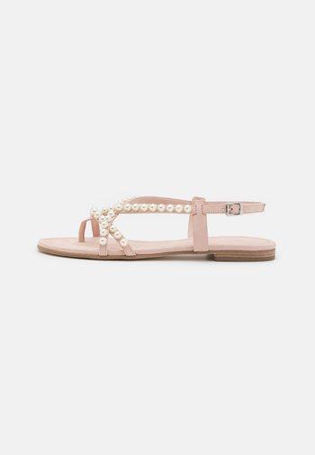 ELLE - T-bar sandals - baby rose