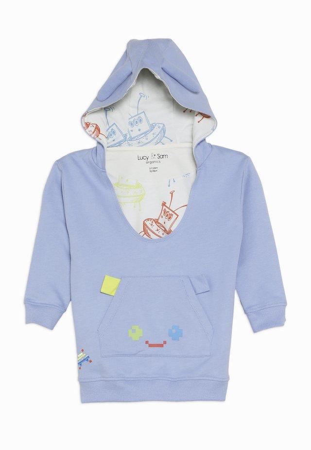 PIXEL PARADISE HUGEEE BABY - Bluza z kapturem - blue mauve
