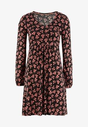 HATTIE - Jersey dress - schwarz, kleeblätter