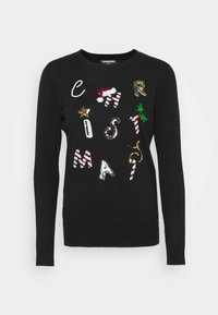 Fashion Union - CHRISTMAS CONVERSATIONAL - Jumper - black - 3
