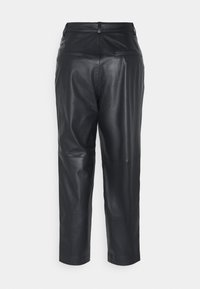 Object - OBJMIA ANKLE PANT - Leather trousers - black - 1