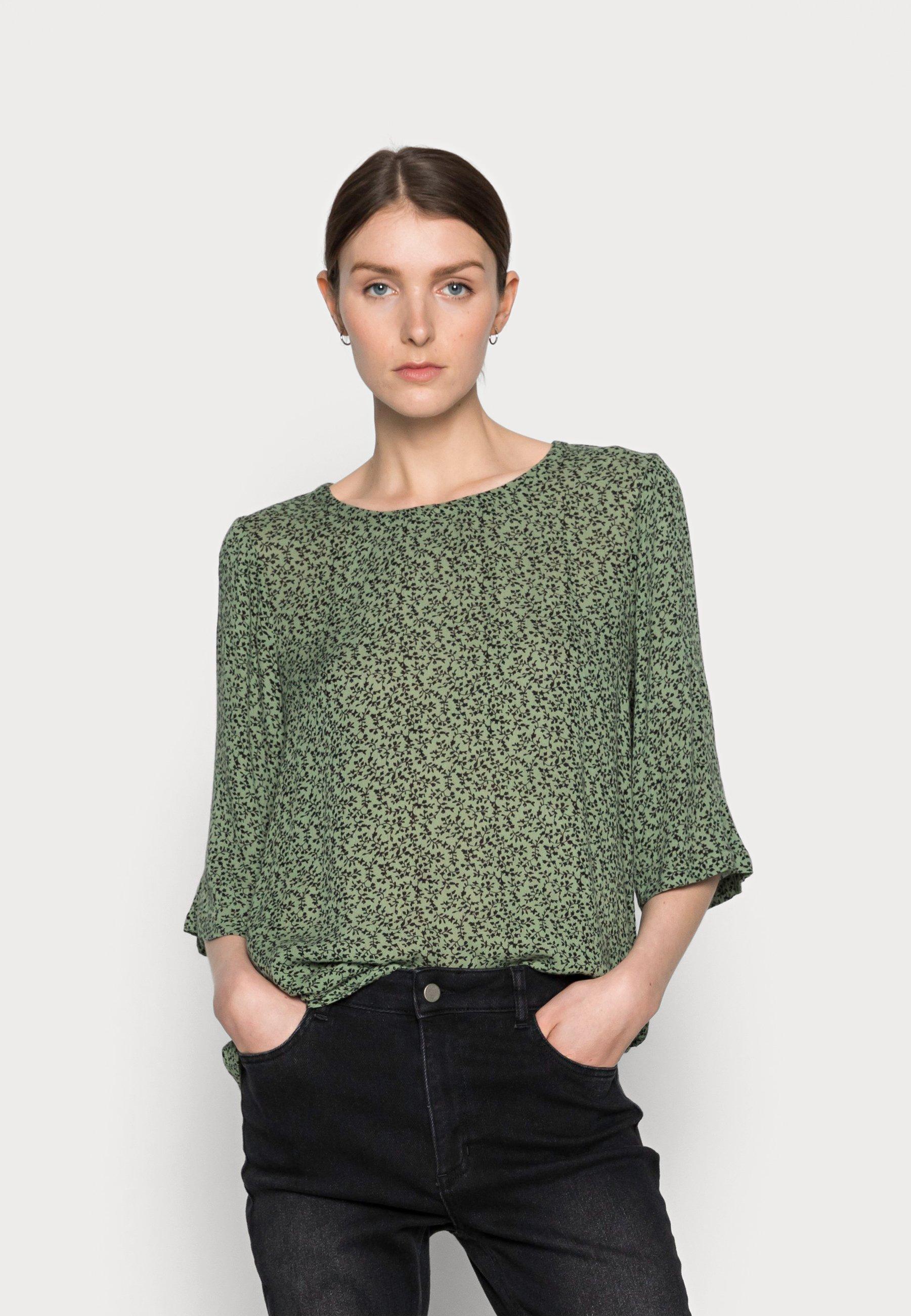 Women LORA AMBER BLOUSE - Blouse - hedge green