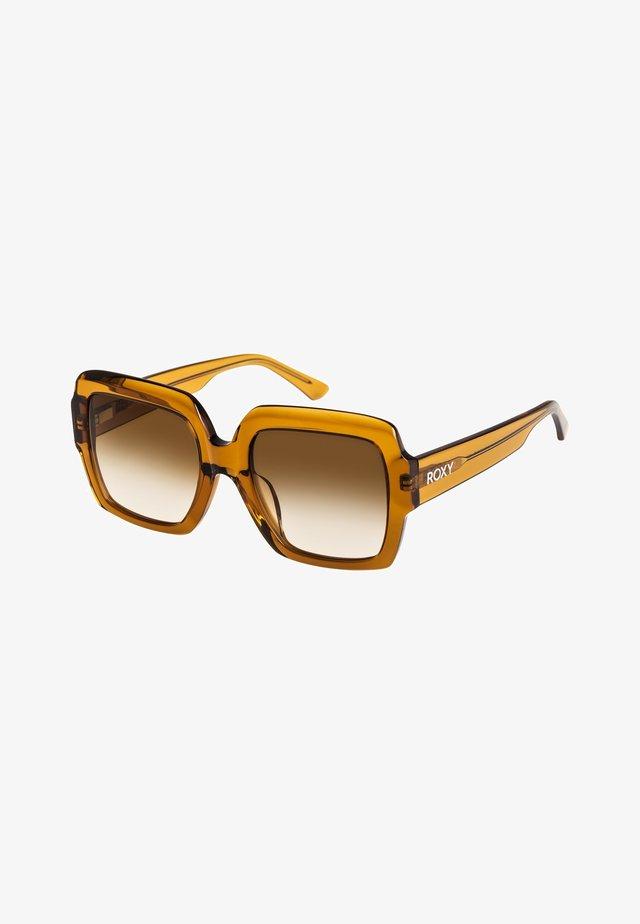 MOKAITE  - Sunglasses - shiny crystal champ/grd brown