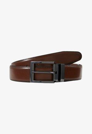 ENDEMANN - Belt - dark cognac/gunmetal