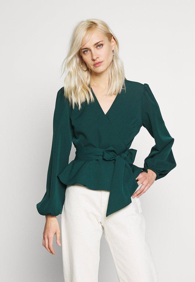 Bluzka - emerald green
