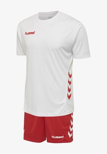 DUO SET - Korte broeken - white/true red
