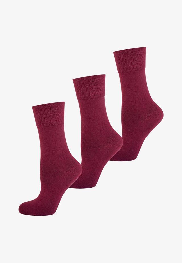 3 PACK - Sokken - bordeaux