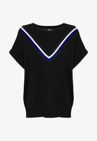DKNY - STRIPED DETAIL - T-shirts print - black/electric blue - 3