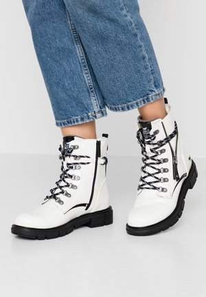 Lace-up ankle boots - weiß