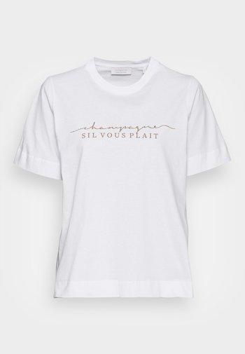 SIL VOUS PLAIT - T-shirts med print - white