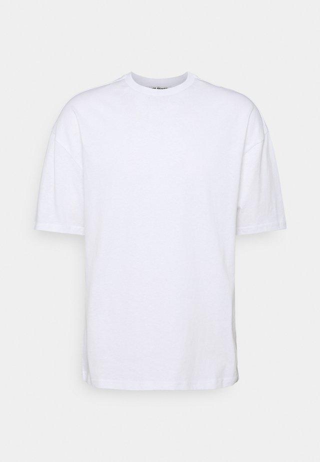 SILENCE WAVES UNISEX - T-shirts med print - white