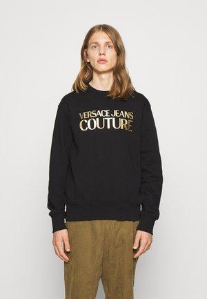BRUSHED - Sweatshirt - nero/oro
