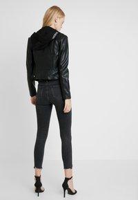 Guess - LETIZIA JACKET - Faux leather jacket - jet black - 2