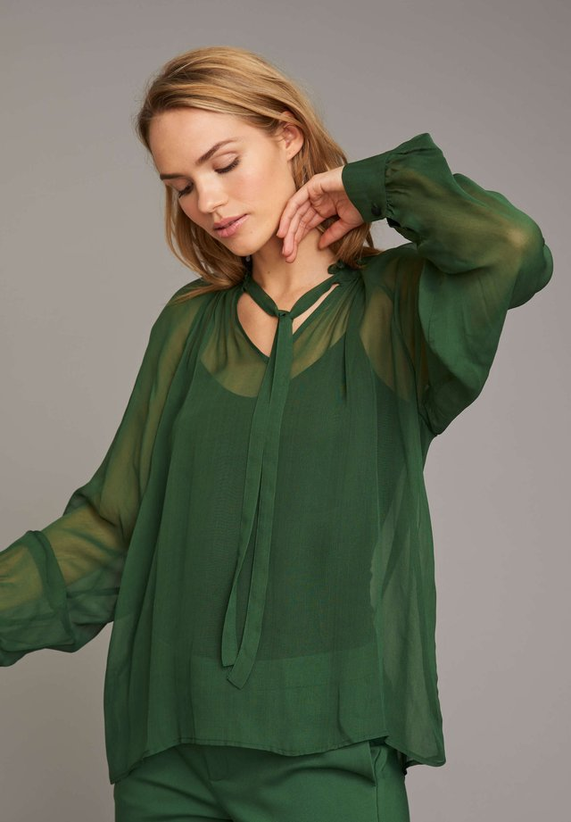 RUFFLED SHEER - Blouse - green