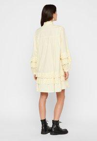 Pieces - Robe d'été - pastel yellow - 2