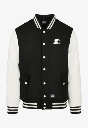 COLLEGE - Chaquetas bomber - black/white