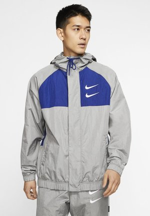 Summer jacket - particle grey/deep royal blue/white