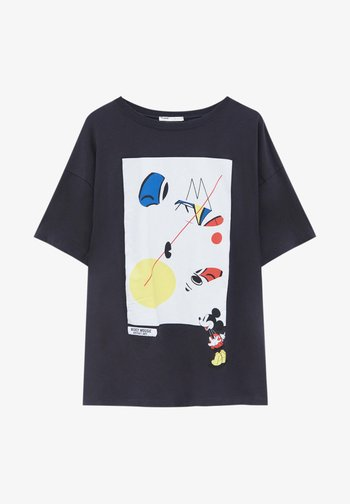 MICKEY MOUSE - T-shirt con stampa - mottled dark grey