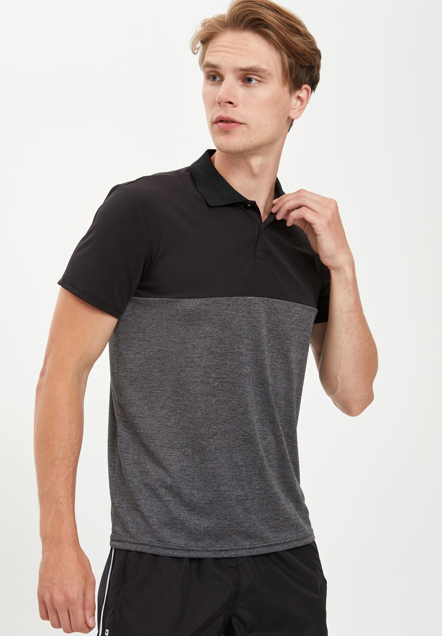 DeFacto Print T-shirt - anthracite 83B1J
