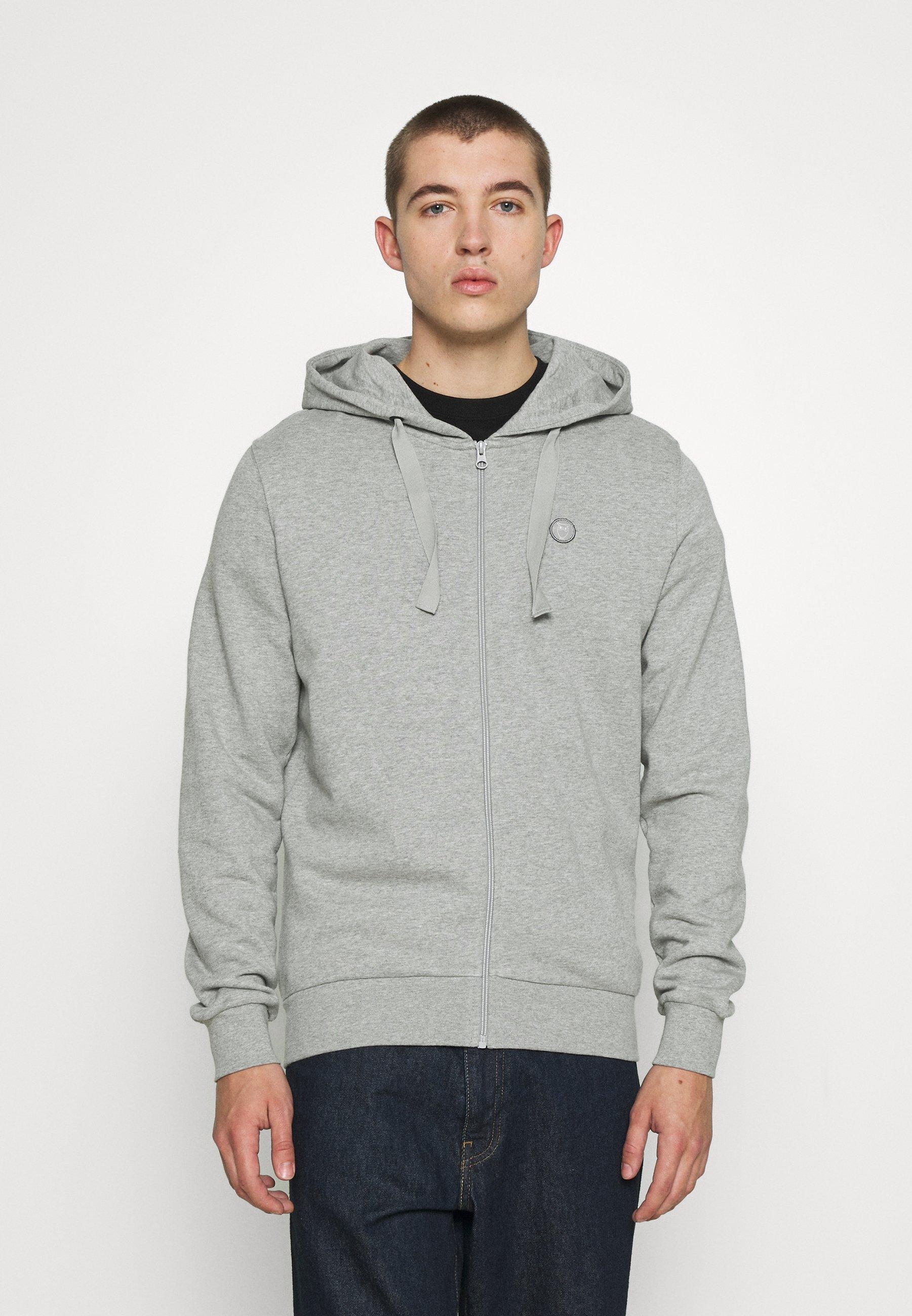 Men ZIP HOOD BASIC BADGE - Zip-up sweatshirt