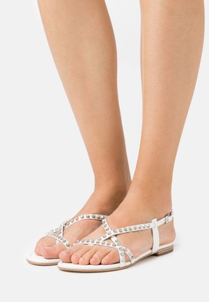 ELLE - T-bar sandals - milk/silver