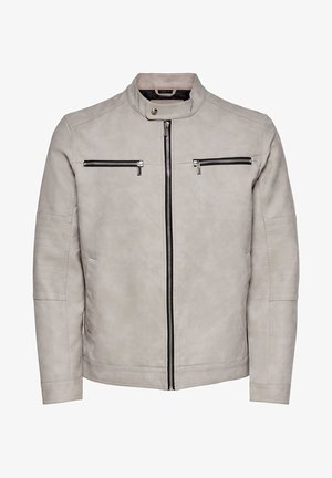 ONSFAVOUR JUPITER  - Faux leather jacket - cloud gray