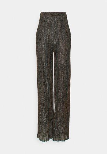Kalhoty - black/bronze