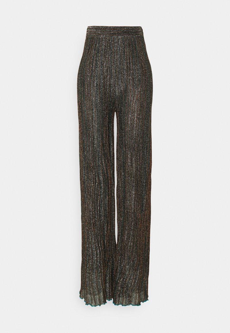 M Missoni - Trousers - black/bronze