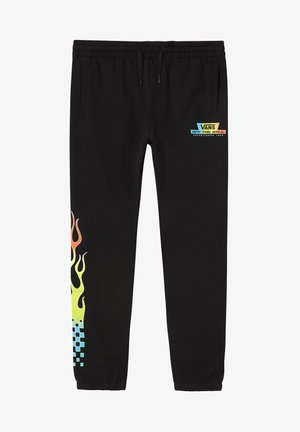BY GLOW FLAME FLEECE - Trousers - black