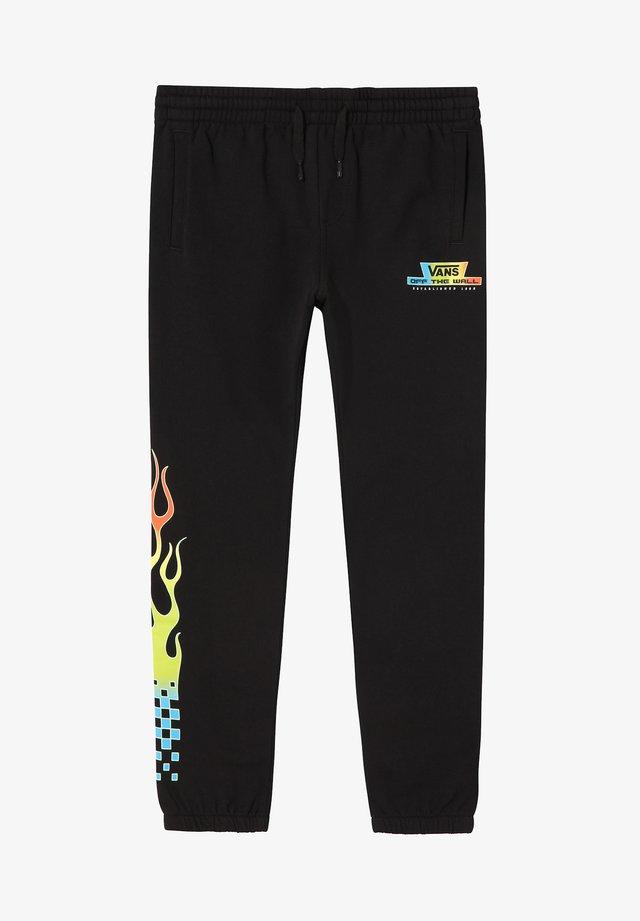BY GLOW FLAME FLEECE - Spodnie materiałowe - black