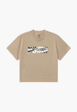 PUMA X ZALANDO GIRLS TEE - Print T-shirt - sesame