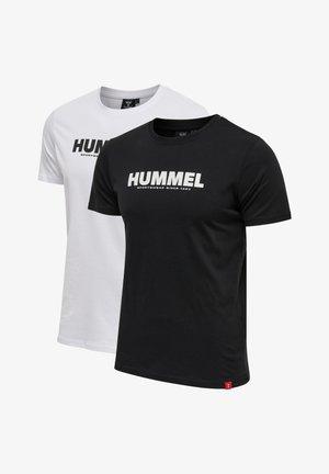 2 PACK  - T-shirt z nadrukiem - black/white