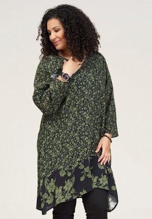 JETTE - Tuniek - black with green